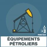 E-mails des équipements pétroliers