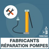 Emails fabricants reparation pompes