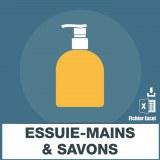 Emails des sociétés essuie-mains et savons