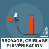 Emails entreprises de broyage criblage pulverisation