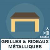 Emails des grilles et rideaux métalliques