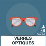 Emails entreprises de verre optique