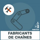Emails fabrication de chaines