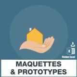 E-mails des maquettes et prototypes