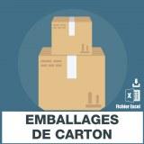 Emails des emballages carton
