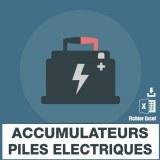 Adresses emails accumulateurs piles electriques