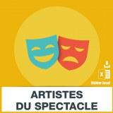 E-mails des artistes du spectacle