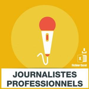 Base d'adresses emails de journalistes professionnels