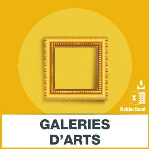 Adresses emails galeries d'art