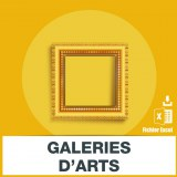 Adresses emails galeries d'art