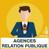Emails agences de relation publique