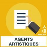Emails agents artistiques agents litteraires