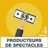Emails producteurs spectacles