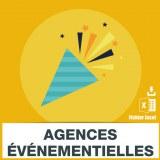 Emails agences événementielles et des agences de communication
