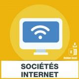 Adresses emails sociétés Internet
