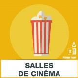 Adresses emails des salles de cinéma