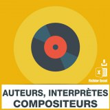 Emails auteurs compositeurs interpretes