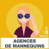 Emails des agences de mannequins