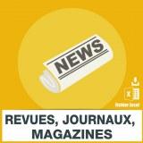 Emails éditions de revues journaux magazines