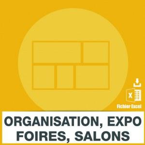 Emails organisation foires salons et expositions