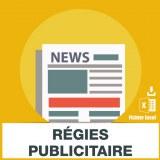 E-mails support régie publicitaire