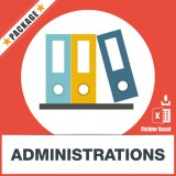 Base d'adresses emails d'administrations