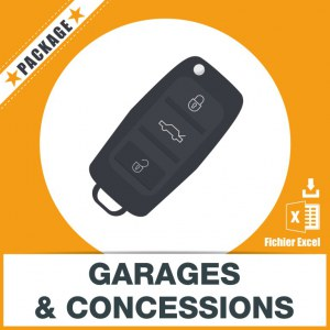 Base d'adresses emails d'automobiles : garages, concessions ....