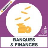 Adresses emails Banques et Finances
