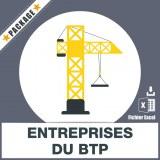 E-mails des entreprises du BTP
