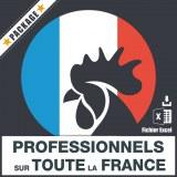 E-mails de tous les professionnels sur la France entière