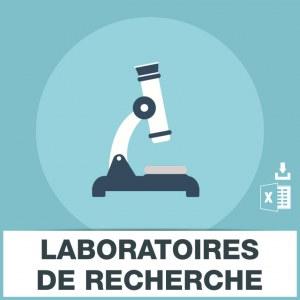 Emails laboratoires de recherche