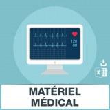 Adresses emails de matériel médical