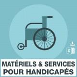 Emails materiel et services pour handicapés