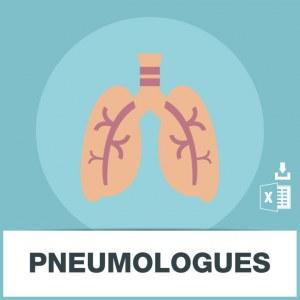 Base adresse emails des pneumologues