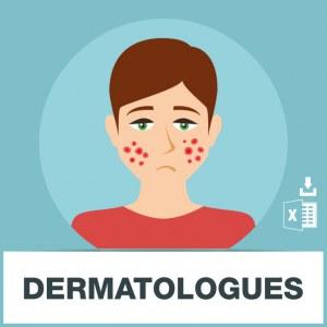 Base d'adresses emails de dermatologues