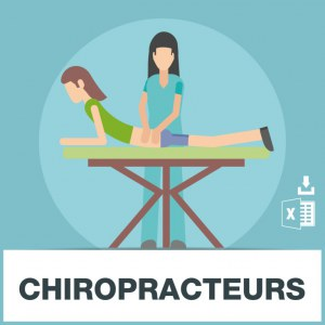 Base adresses emails chiropracteurs