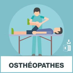Base d'adresses e-mails des ostéopathes