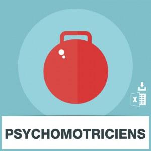 Base adresses e-mails psychomotriciens
