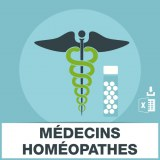 Base adresse e-mail medecin homeopathie
