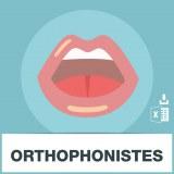 Base d'adresses emails des orthophonistes