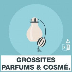 Emails fabricants grossistes parfums et cosmétiques