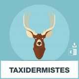 Base adresses e-mails taxidermistes