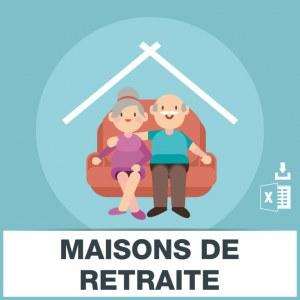 Adresses emails maisons de retraite