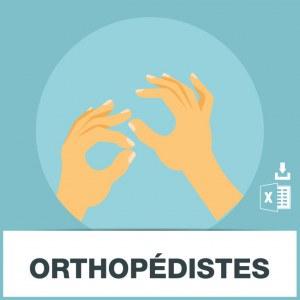 Base d'adresses emails des orthopédistes