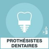 Adresses emails prothésistes dentaires