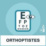 Adresses e-mails orthoptistes