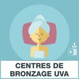 Adresses emails centres bronzage uva
