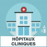 Base d'adresses emails d'hopitaux et cliniques