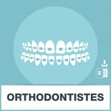 Base adresses e-mails orthodontiste