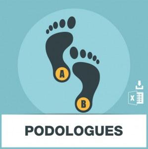 Base d'adresses emails de podologues